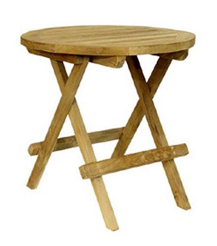 Ambientehome 62297 Side Table Diameter 40 cm Teak