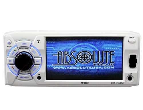 Absolute USA DMR-475ABTW 4.8-Inch DVD/MP3/CD Multimedia Player with USB, SD Card, Built-in Bluetooth and Analog TV Tuner (White) (Hummer H1 Shock compare prices)