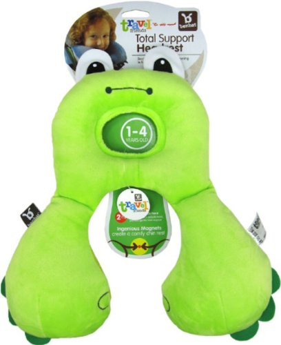 Baby Kid Toddler Child Infant Newborn Car Booster Seat Stroller Travel Neck Saver Positioner Protector Head Rest Support Cartoon Animal Pillow (L, Frog) front-23209