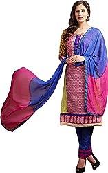 Sanvan Multicolor Printed Cotton Salwar Suit Dress Material_SV244SF