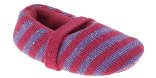 Cheap Capelli New York Toddler Girls Striped Knit Ballet Indoor Slipper (B00937Y0X4)