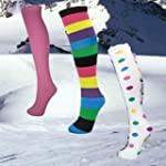 Three Pairs Ski Socks Seamless Tube S...