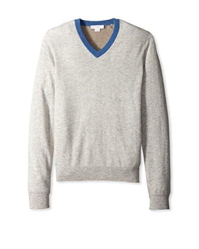 Christopher Fischer Men's Colorblock V-Neck Cashmere Sweater