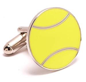 Tennis Themed Executive Cufflinks w/Jewelry Box by Cuff Links.
