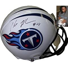 Chris Johnson Autographed Hand Signed Tennessee Titans Full Size Authentic Proline... by Hall of Fame Memorabilia