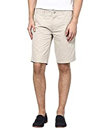 Zess Men's Cotton Shorts (8903862962160_Beige_36)