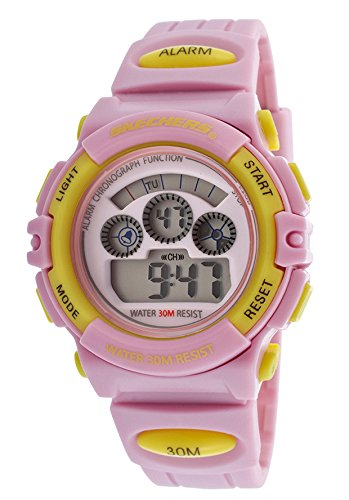 Skechers Watches hottest offer: Skechers Light Pink/Yellow Digital Multi-Function Watch