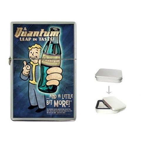 New Product Nuka Cola Quantum Fallout Flip Top Cigarette Lighter + free Case Box