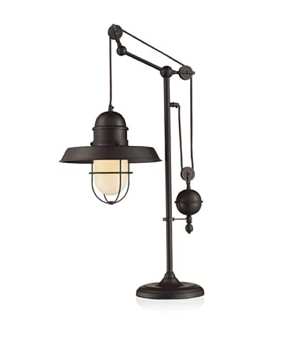 Artistic Lighting Farmhouse Table Lamp, Oiled Bronze As You See