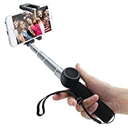 Sumsonic ROCK-15 Extendable Aluminum Monopod Selfie Stick with Detachable Bluetooth Remote Shutter for iPhone 6s, 6, 5s, Android and All Other Smartphones