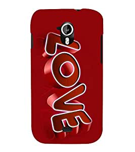 printtech Love Quote Back Case Cover for Micromax Canvas HD A116::Micromax Canvas HD Plus A116Q