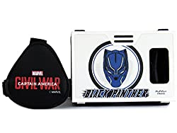 Marvel Civil War (Black Panther) Mystery Member Plastic 6 inch Virtual Reality Viewer (VR Headset) for Android Phones, Apple iPhones from AuraVR Inspired by Google Cardboard
