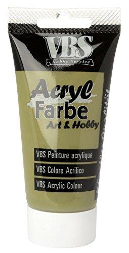 acrylfarbe vbs 75 ml olivgr n. Black Bedroom Furniture Sets. Home Design Ideas