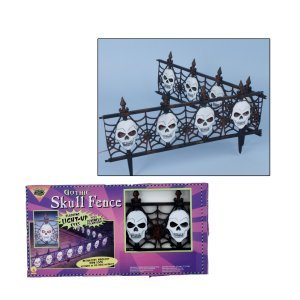 Gothic Skull Fence - Light Up