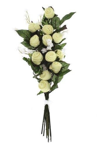 Neutral Rose Box Bouquet - Yellow Socks