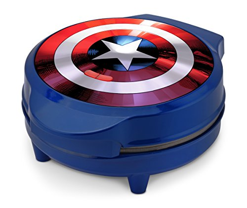Marvel-MVA-278-Captain-America-Shield-Waffle-Maker-Blue