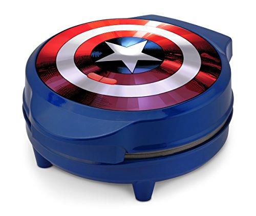 Marvel-MVA-278-Captain-America-Shield-Waffle-Maker-Blue