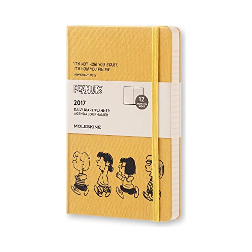 Moleskine 2017 Peanuts Limited Edition Daily Planner, 12M, Large, Yellow, Hard Cover (5 x 8.25)