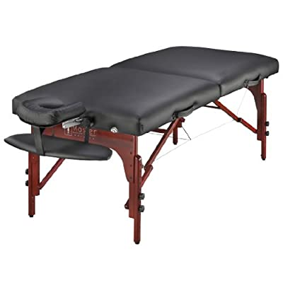 "Master Massage 31"" Extra Wide Montclair Pro Memory Foam Portable Massage Table Package with Reiki"