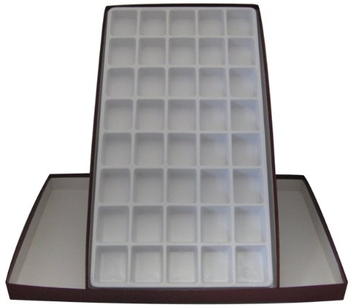 American Educational Polystyrene 40 Cell Storage Box with Tray for Rock and Mineral Specimens (Rock Display Box compare prices)