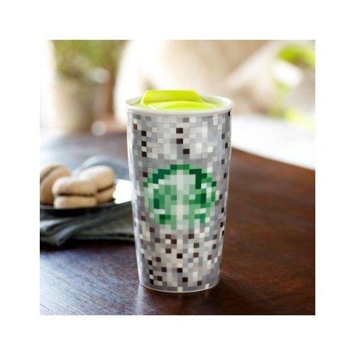 Starbucks Double Wall Ceramic Traveler - Rodarte, 12 fl oz