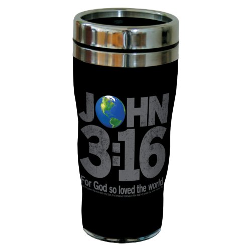 Tree-Free Greetings Sg24202 Contemporary: John 3:16 Sip 'N Go Stainless Steel Lined Travel Tumbler, 16-Ounce