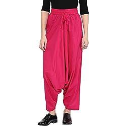 Rangmanch by Pantaloons Women's Cotton Dhoti Pant( 205000005580649_Pink_Large)