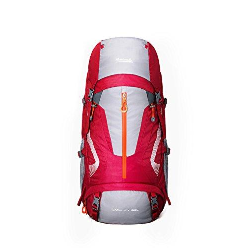 Sac d'escalade en plein air / épaules sac à dos des hommes et des femmes-rouge 60L