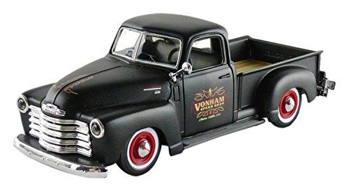 maisto-32506bk-chevrolet-3100-pick-up-1950-echelle-1-24-noir-mat-rouge