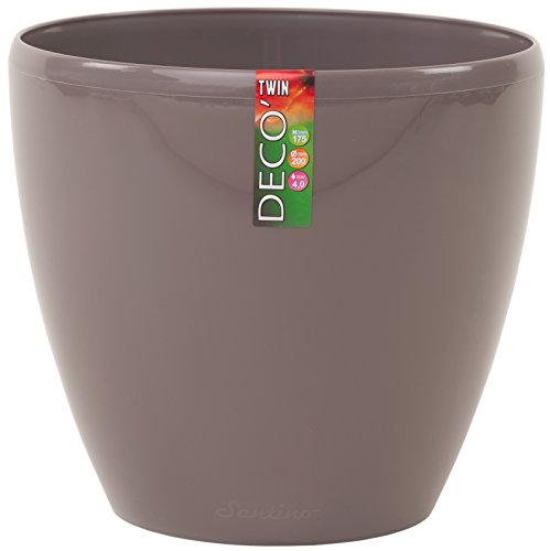Santino Self Watering Planter DECO 8.8 Inch Shade Flower Pot (Large Decorative Flower Pots compare prices)