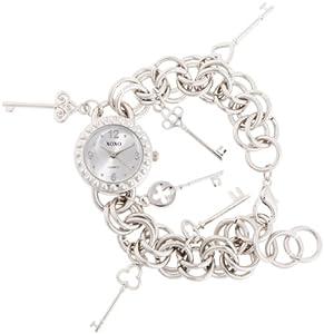 XOXO Women's XO7029 Silver Dial Silver-tone Charm Watch