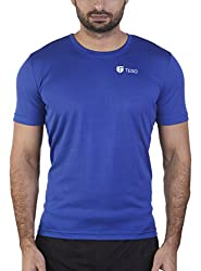 TEGO Men Sweat Charged Polyester Crew Tshirt Blue XL 8090603680116