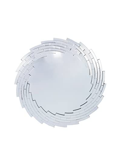 Baxton Studio Bonham Contemporary Round Accent Wall Mirror, Silver As You See