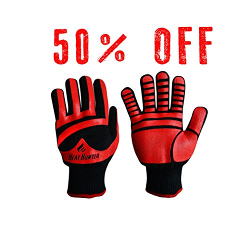 heat-hunter-smoker-bbq-grill-cooking-gloves-extreme-heat-cut-resistant-m-l-size-kevlar-silicone-insu