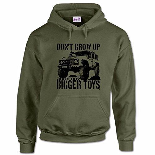 herren-buy-bigger-toys-aufdruck-4x4-4wd-kapuzenpullover-olivengrun-l