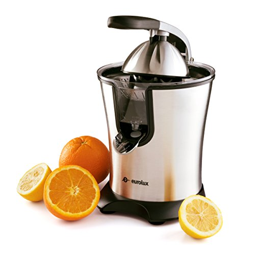 Lowest Prices! Eurolux Easy to Use Stainless-steel Motorized Citrus Juicer with Handle and Cone Lid ...