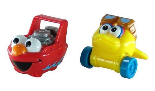 Sesame Street Giggle & Go Vehicle Pack: Elmo Boat & Big Bird Plane