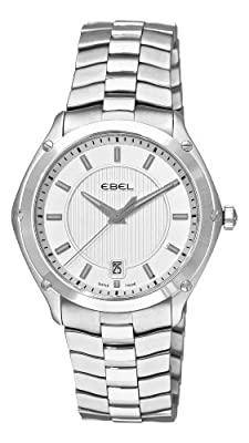 Ebel Men's 9955Q41/163450 Classic Sport Silver Dial Watch by Ebel