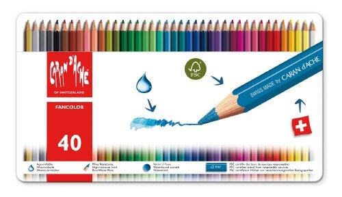 Caran d'Ache Fancolor Colored Pencil Kit (40 Colors)