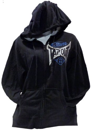 Tapout Womens Black Hoodie with Foil Print