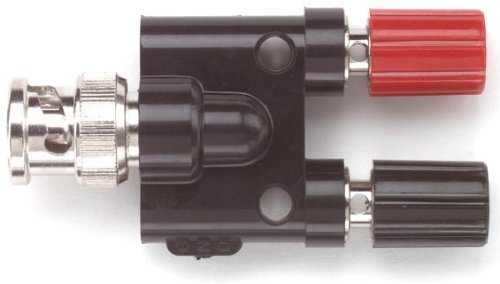 """Pomona 1296 Bnc Male To Double Stacking Binding Post Jack, 50 Ohms Nominal Impedance, 2.48"""" Length (Pack Of 5)"""