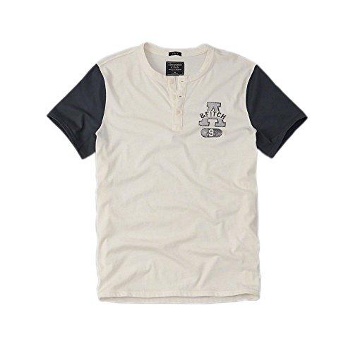 abercrombie-y-fitch-para-hombre-applique-logo-graphic-henley-camiseta-en-color-blanco-nueva-etiqueta