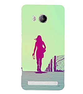 Drinking Girl Design 3D Hard Polycarbonate Designer Back Case Cover for Vivo Xshot