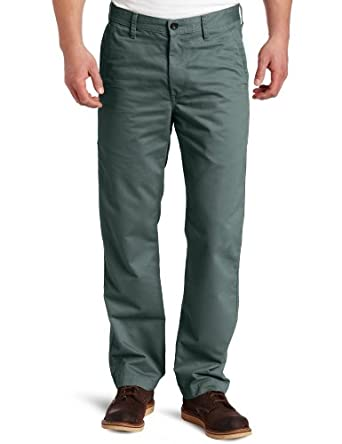 Haggar Men's Life Straight Fit Flat Front Utility Twill Pant,Military Green,30x30