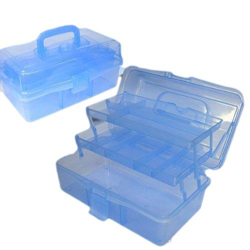 【釣具ボックス】ルアーや仕掛け等をキレイに収納!道具入れにも!2段ツールボックス/タックルボックス