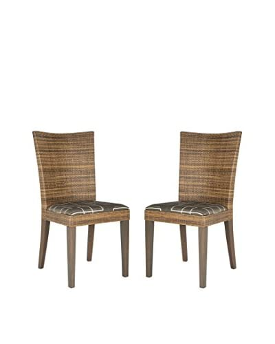 Safavieh Set of 2 Fabrizio Side Chairs, Brown