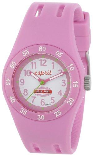 Esprit Kids - ES103464006 - Fun Racer - Montre Mixte - Quartz Analogique - Cadran Rose - Bracelet Polyuréthane Rose