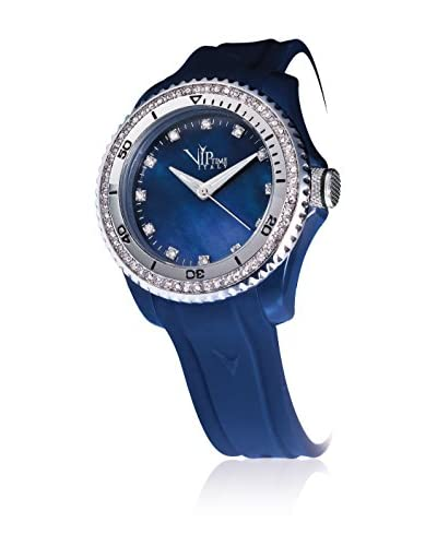 Vip Time Italy Reloj con movimiento cuarzo japonés Magnum Azul 40  mm