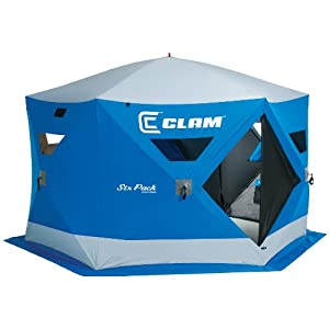 Clam six pack 1550 mag 4 6 man ice fishing for Clam fish houses