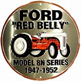 Ford Red Belly Tractor Circular Sign ~ Poster Revolution